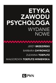 Ebook Etyka zawodu psychologa pdf