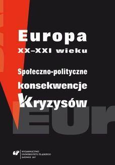 Ebook Europa XX–XXI wieku. Społeczno-polityczne konsekwencje kryzysów pdf