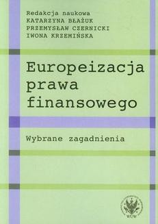 Ebook Europeizacja prawa finansowego pdf