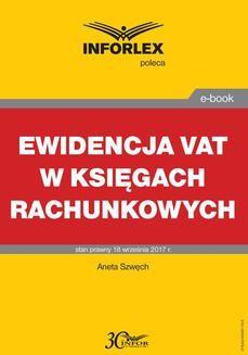 Ebook Ewidencja VAT w księgach rachunkowych pdf