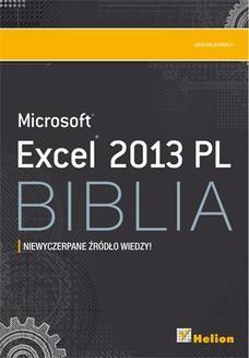 Chomikuj, ebook online Excel 2013 PL. Biblia. John Walkenbach