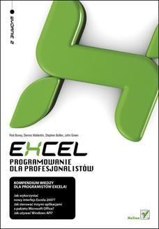 Chomikuj, ebook online Excel. Programowanie dla profesjonalistów. Wydanie II. Rob Bovey