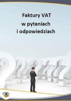 Chomikuj, ebook online Faktury VAT w pytaniach i odpowiedziach. Opracowanie zbiorowe