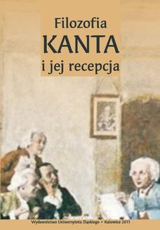 Chomikuj, ebook online Filozofia Kanta i jej recepcja. red. Dariusz Bęben