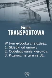 Ebook Firma transportowa, wydanie kwiecień 2014 r. pdf