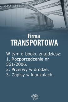 Ebook Firma transportowa, wydanie maj 2014 r. pdf