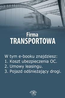 Ebook Firma transportowa, wydanie styczeń 2014 r. pdf