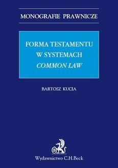 Ebook Forma testamentu w systemach common law pdf