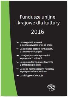 Chomikuj, ebook online Fundusze unijne i krajowe dla kultury 2016. Marek Peda
