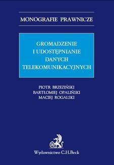 Ebook Gromadzenie i udostępnianie danych telekomunikacyjnych pdf
