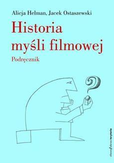 Ebook Historia myśli filmowej. Podręcznik pdf