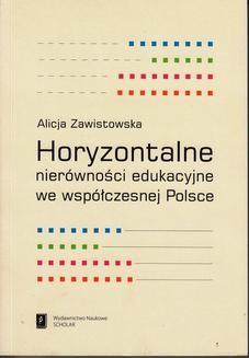 Ebook Horyzontalne nierówności edukacyjne we współczesnej Polsce pdf