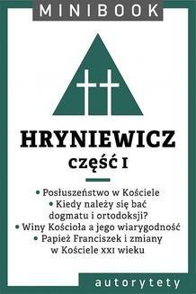Chomikuj, ebook online Hryniewicz [teolog]. Minibook. Wacław Hryniewicz OMI