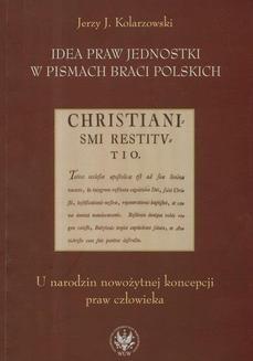 Ebook Idea praw jednostki w pismach Braci Polskich pdf