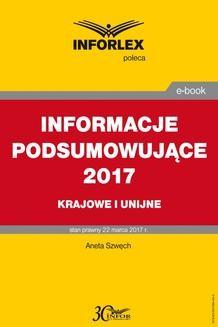 Chomikuj, ebook online Informacje podsumowujące 2017 – krajowe i unijne. Aneta Szwęch