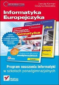 Chomikuj, ebook online Informatyka Europejczyka. Informatyka. Program nauczania dla szkół ponadgimnazjalnych. Danuta Korman