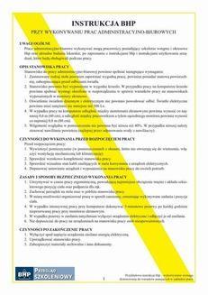 Chomikuj, ebook online Instrukcja bhp przy wykonywaniu prac administracyjno-biurowych. Praca zbiorowa