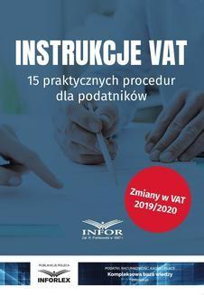 Chomikuj, ebook online Instrukcje VAT. 15 praktycznych procedur dla podatników. Infor Ekspert