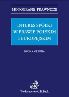 Chomikuj, ebook online Interes spółki w prawie polskim i europejskim. Iwona Gębusia