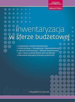 Chomikuj, ebook online Inwentaryzacja w sferze budżetowej. Magdalena Sobczak