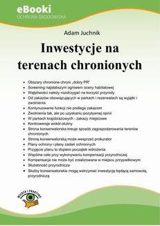 Chomikuj, ebook online Inwestycje na terenach chronionych. Adam Juchnik