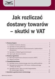 Chomikuj, ebook online Jak rozliczać dostawy towarów – skutki w VAT. Infor Ekspert