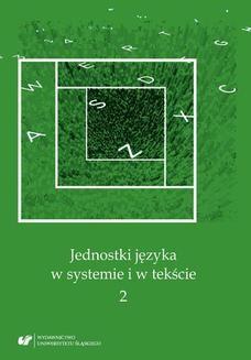 Chomikuj, ebook online Jednostki języka w systemie i w tekście 2. red. Andrzej Charciarek