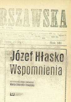 Chomikuj, pobierz ebook online Józef Hłasko. Wspomnienia. Marta Sikorska-Kowalska