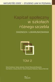 Chomikuj, ebook online Kapitał społeczny w szkołach różnego szczebla. Mateusz Marciniak
