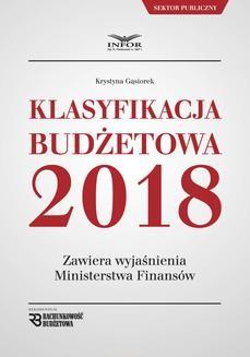 Ebook Klasyfikacja budżetowa 2018 pdf