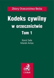 Ebook Kodeks cywilny w orzecznictwie. Tom 1 pdf