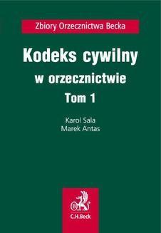 Chomikuj, ebook online Kodeks cywilny w orzecznictwie. Tom 1. Marek Antas