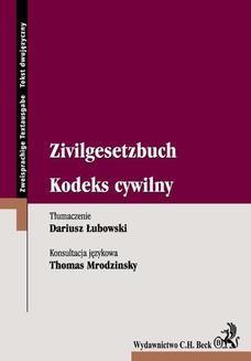 Ebook Kodeks cywilny Zivilgesetzbuch pdf