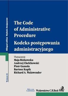 Chomikuj, ebook online Kodeks postępowania administracyjnego. The Code of Administrative Procedure. Opracowanie zbiorowe null