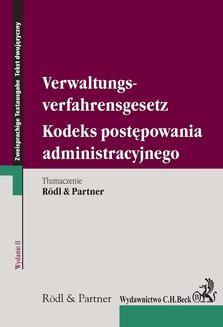 Chomikuj, ebook online Kodeks postępowania administracyjnego. Verwaltungsverfahrensgesetz. wydanie 2. Opracowanie zbiorowe null