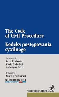 Ebook Kodeks postępowania cywilnego. The Code of Civil Procedure pdf