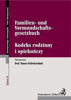 Ebook Kodeks rodzinny i opiekuńczy. Familien- und Vormundschaftsgesetzbuch pdf