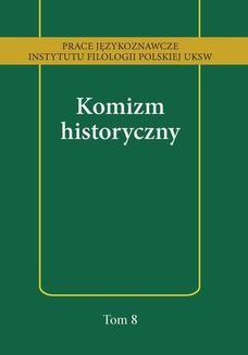 Chomikuj, ebook online Komizm historyczny. Anna Kozłowska