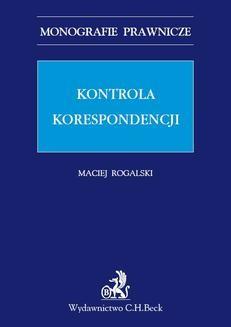 Ebook Kontrola korespondencji pdf
