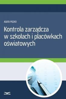 Chomikuj, ebook online Kontrola zarządcza w szkołach i placówkach oświatowych. INFOR PL SA