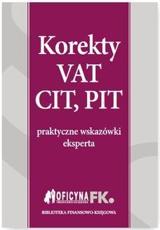 Chomikuj, ebook online Korekty VAT, CIT, PIT. Katarzyna Trzpioła