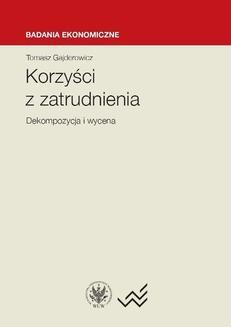 Chomikuj, ebook online Korzyści z zatrudnienia. Tomasz Gajderowicz