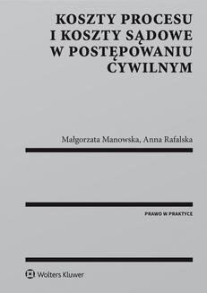Ebook Koszty procesu i koszty sądowe w postępowaniu cywilnym pdf