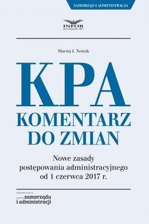 Chomikuj, ebook online KPA. Komentarz do zmian. Maciej J. Nowak