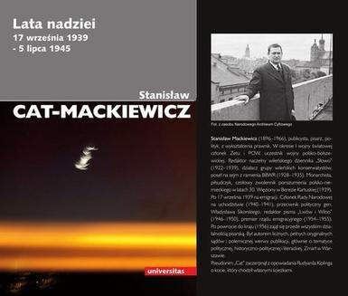 Chomikuj, ebook online Lata nadziei: 17 września 1939 – 5 lipca 1945. Stanisław Cat-Mackiewicz
