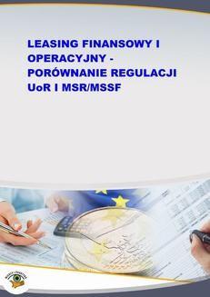 Chomikuj, ebook online Leasing finansowy i operacyjny – porównanie regulacji UoR i MSR/MSSF. Jakub Kornacki