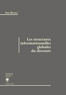 Chomikuj, ebook online Les structures informationnelles globales du discours. Ewa Miczka