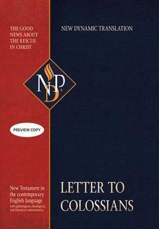Chomikuj, ebook online Letter to Colossians (NPD). Praca zbiorowa
