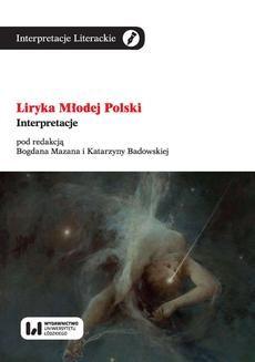Chomikuj, ebook online Liryka Młodej Polski. Interpretacje. Bogdan Mazan