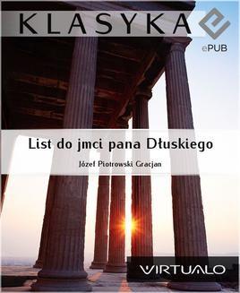 Chomikuj, ebook online List do jmci pana Dłuskiego. Gracjan J. Piotrowski